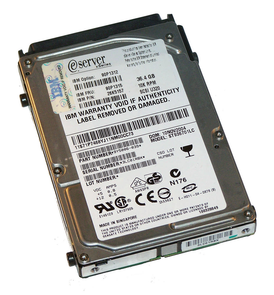 "IBM 71P7468 Seagate ST936701LC 36.4GB 10K 2.5"" SCSI SFF Hard Disk 9Y5006-039"